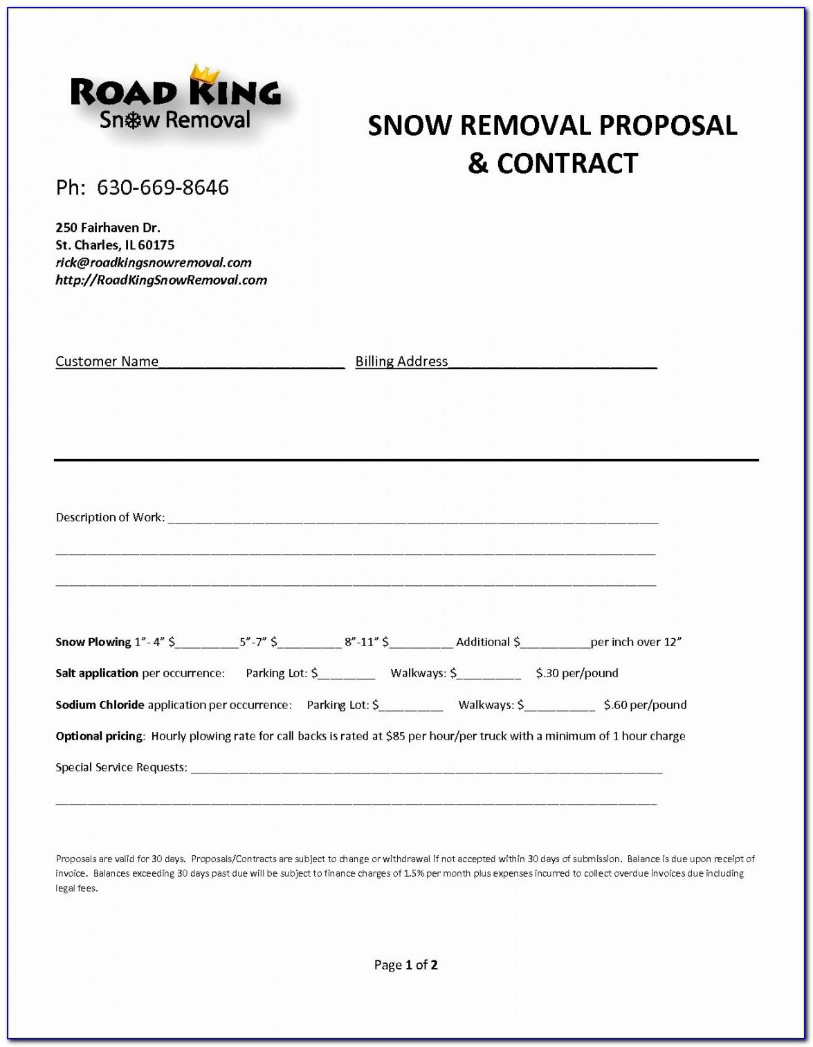 Snow Removal Rfp Template