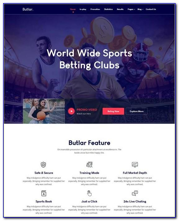 Sports Gambling Website Templates