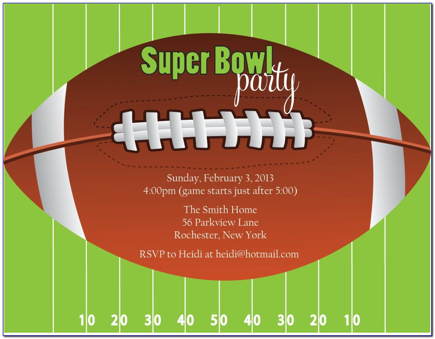 Super Bowl 2019 Invitation Templates