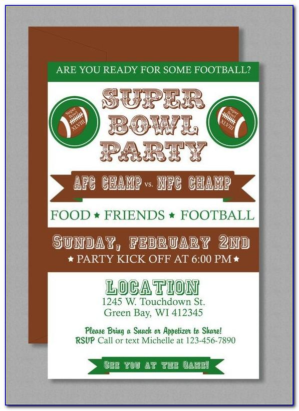 Super Bowl Invitations Templates Free
