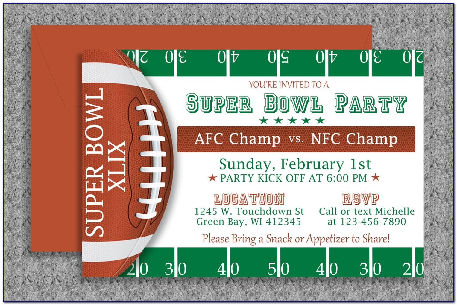Super Bowl Party Invitation Templates Free