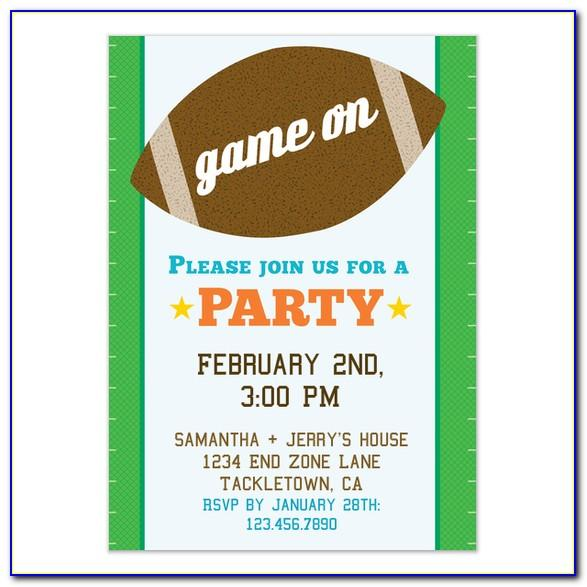 Super Bowl Ticket Invitation Template