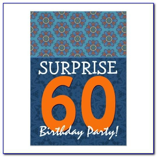 Surprise Birthday Invitation Card Templates