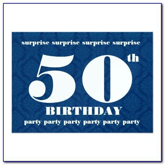 Surprise Birthday Invitation Template Word
