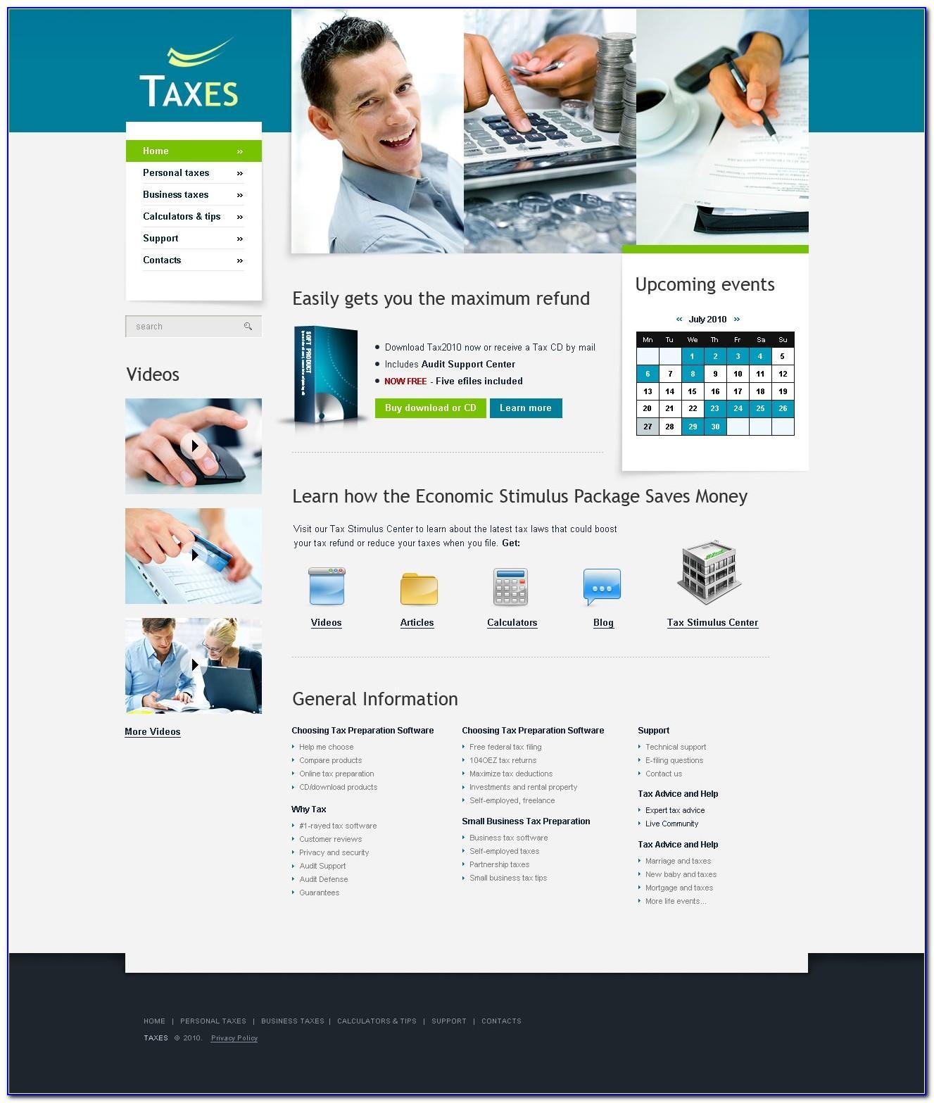 Tax Preparation Website Templates