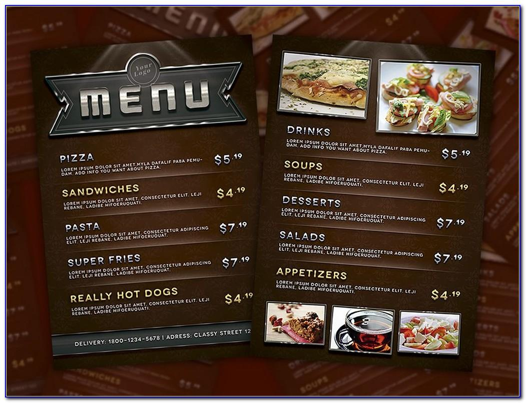 Template Cafe Menu Corel