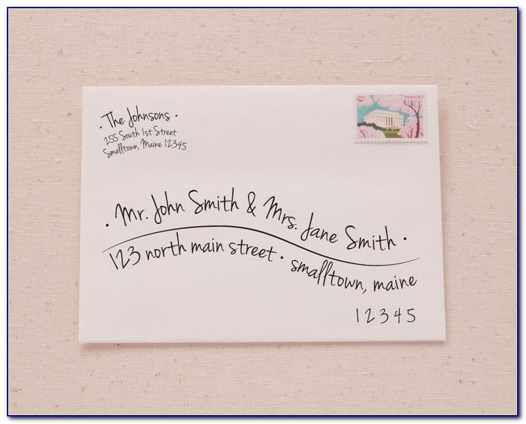 Template For Addressing Envelopes