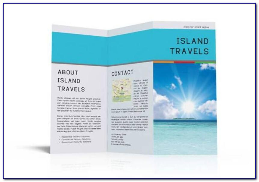 Template For Tri Fold Brochure Word