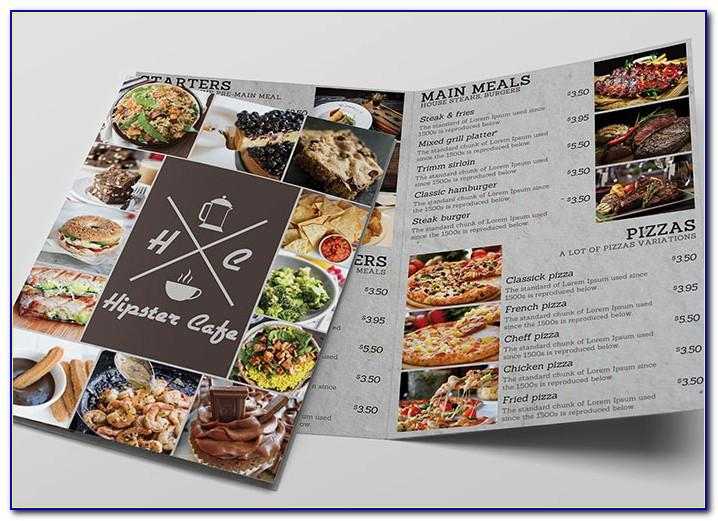 Template Menu Cafe Cdr