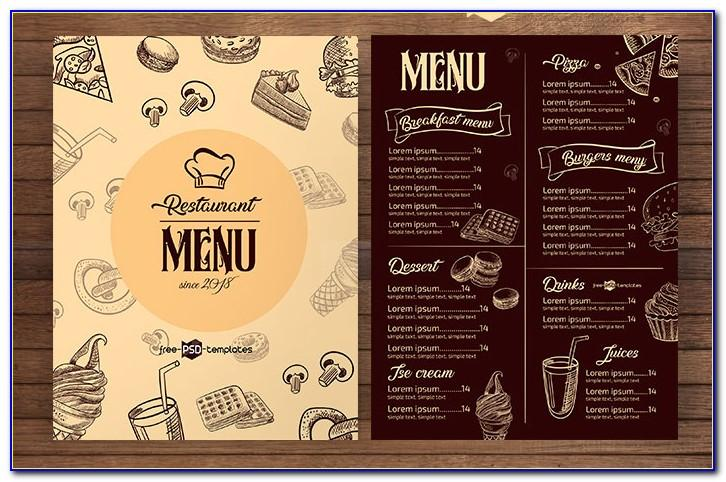 Template Menu Cafe Psd