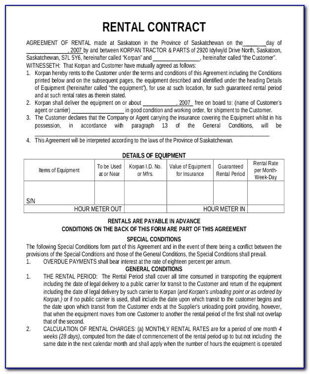 Tenancy Contract Template Dubai Word Document
