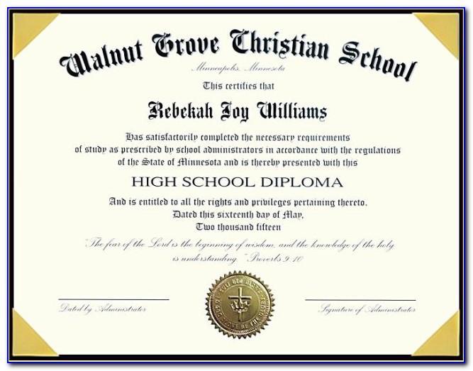 Texas Homeschool High School Diploma Template