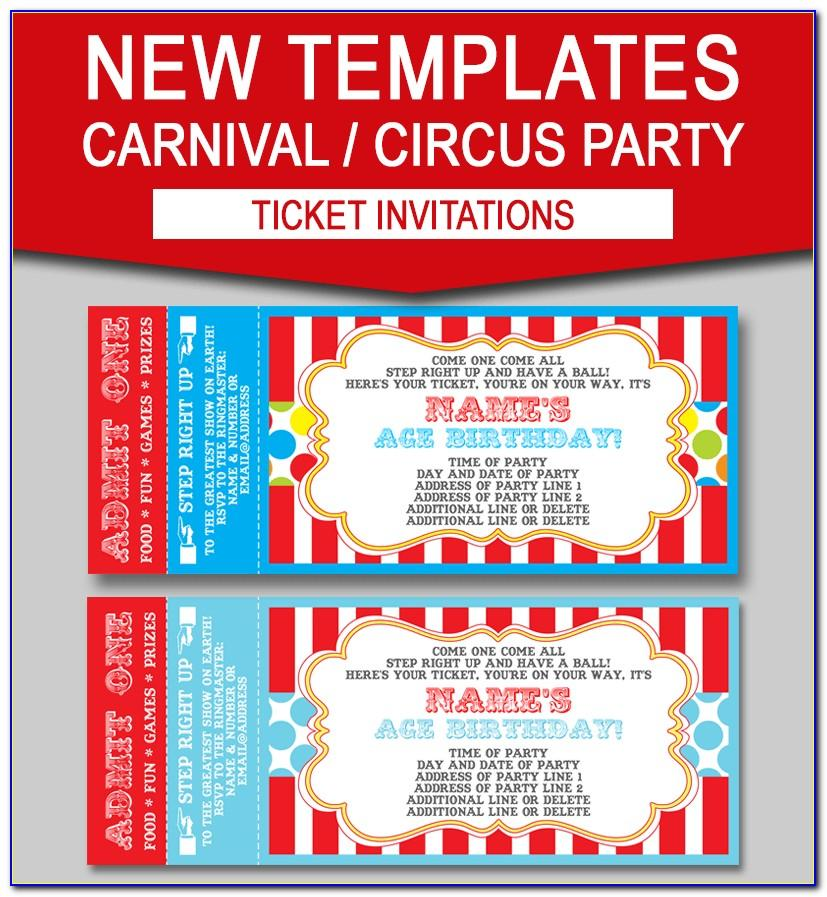 Ticket Invitations Template Free