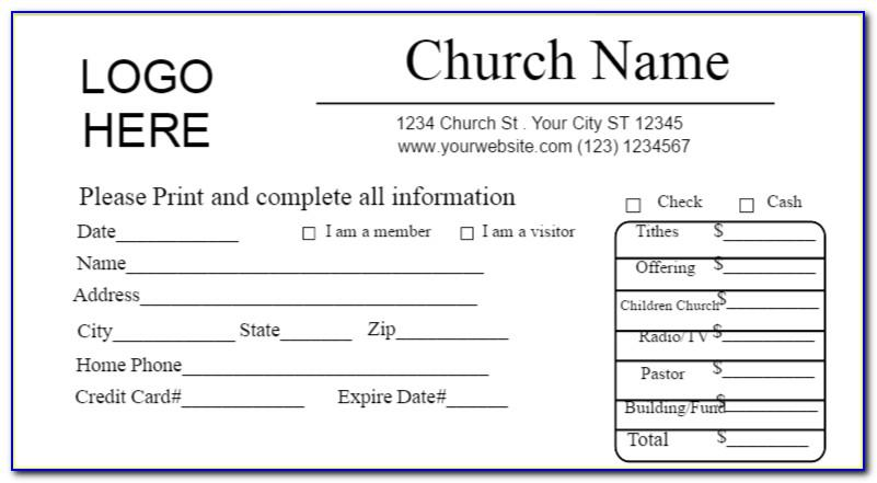 Tithing Envelope Template Free