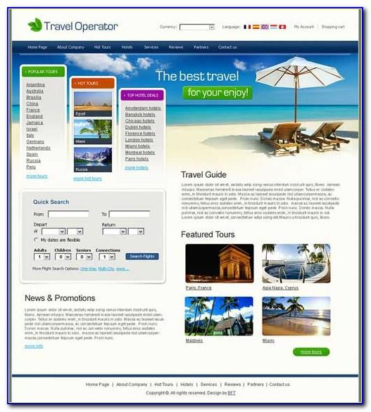 Tour And Travel Website Templates Free Download