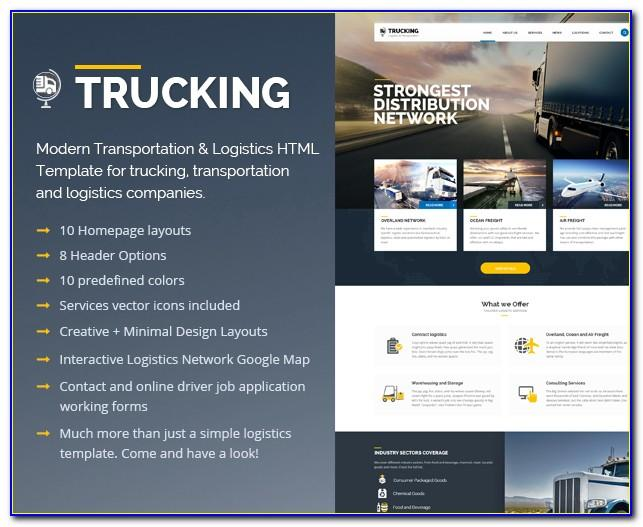 Trucking Company Profile Template