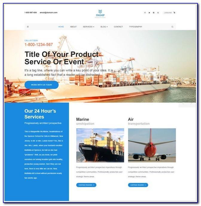 Trucking Transportation & Logistics Html Template Free Download