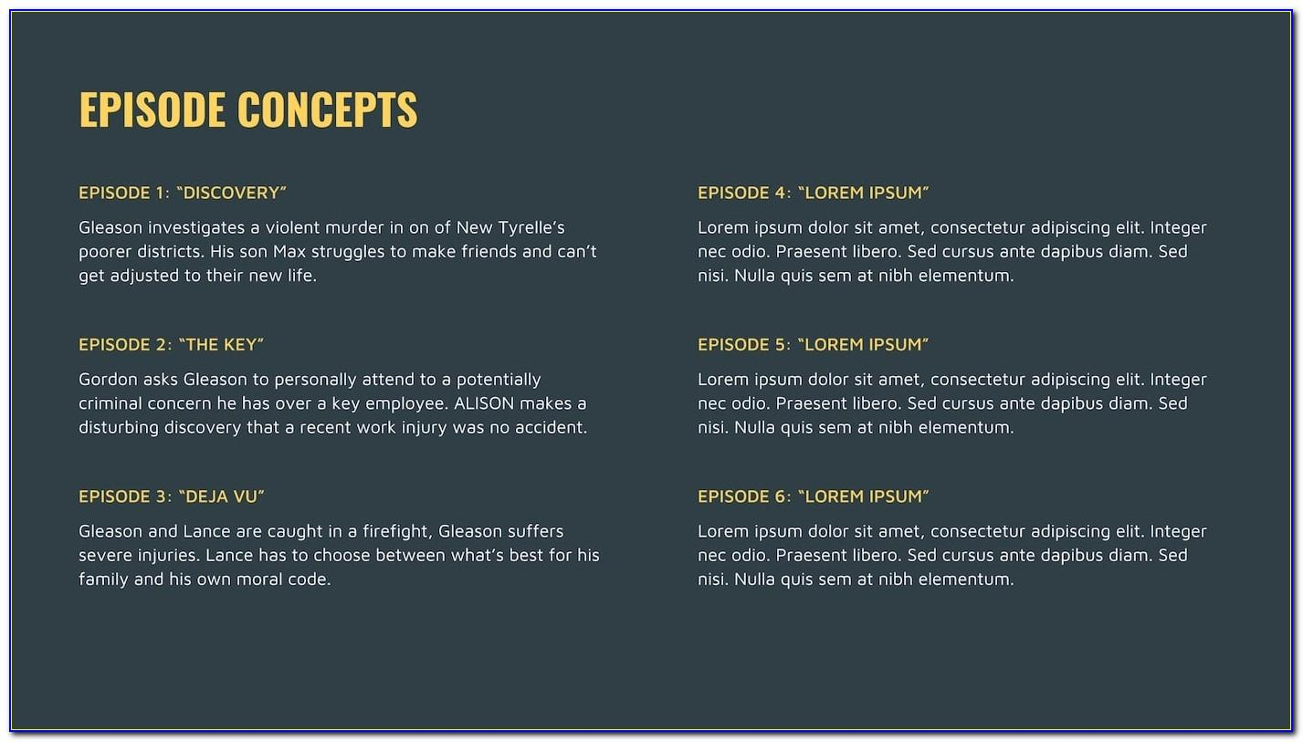 Tv Show Pitch Deck Template