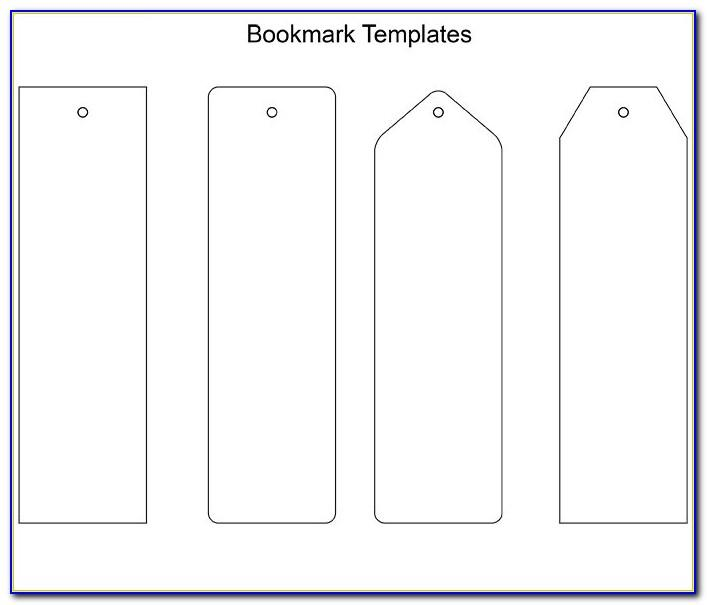Two Sided Bookmark Template Word