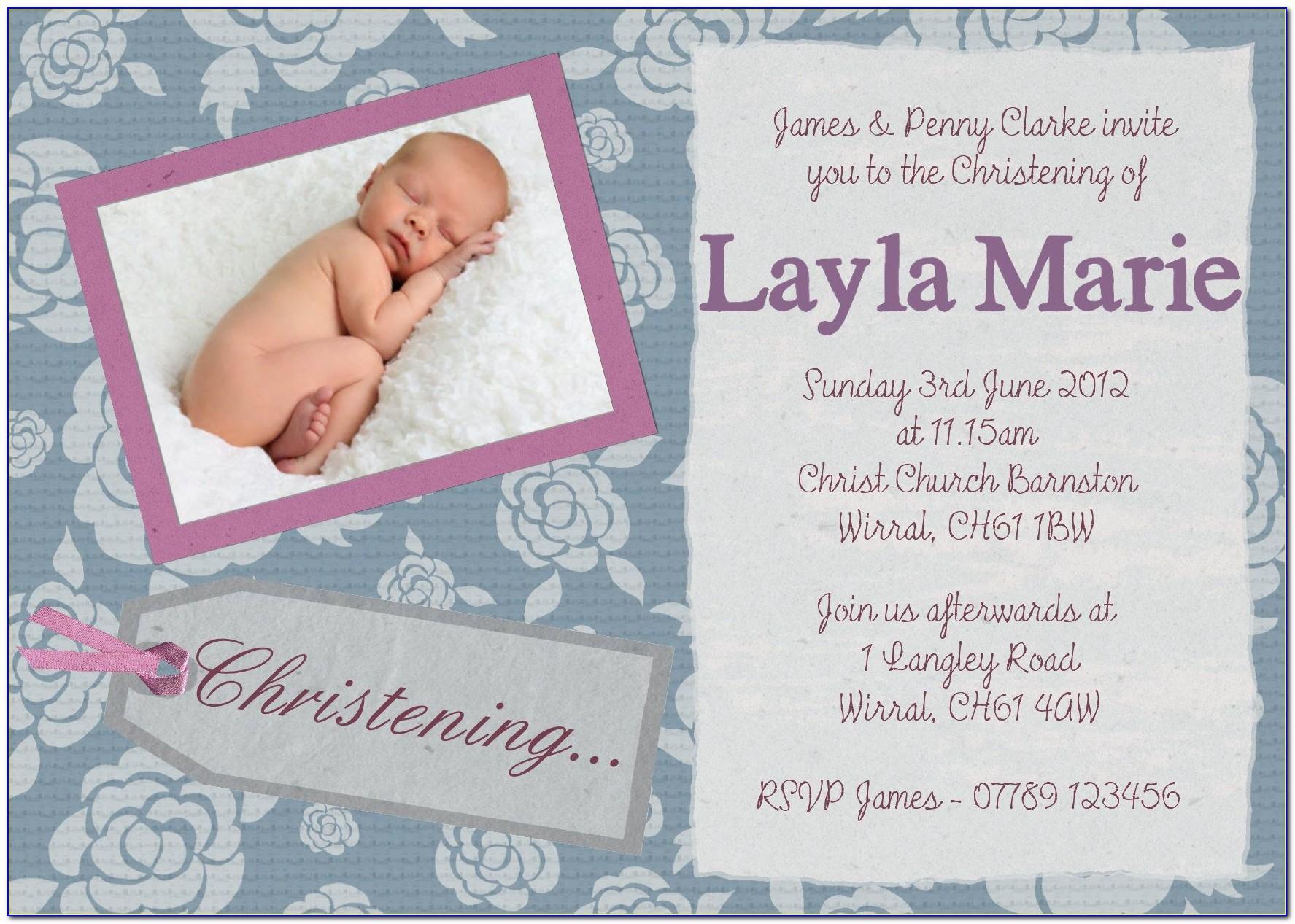 Unique Invitation Designs For Baptism