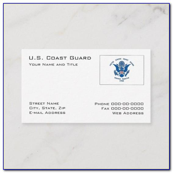 Uscg Auxiliary Business Card Template