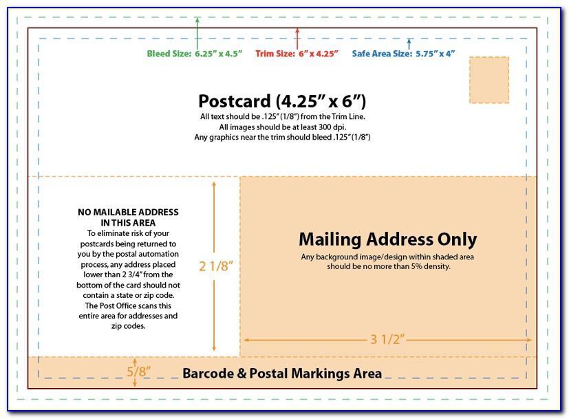 Usps Postcard Template 4x6