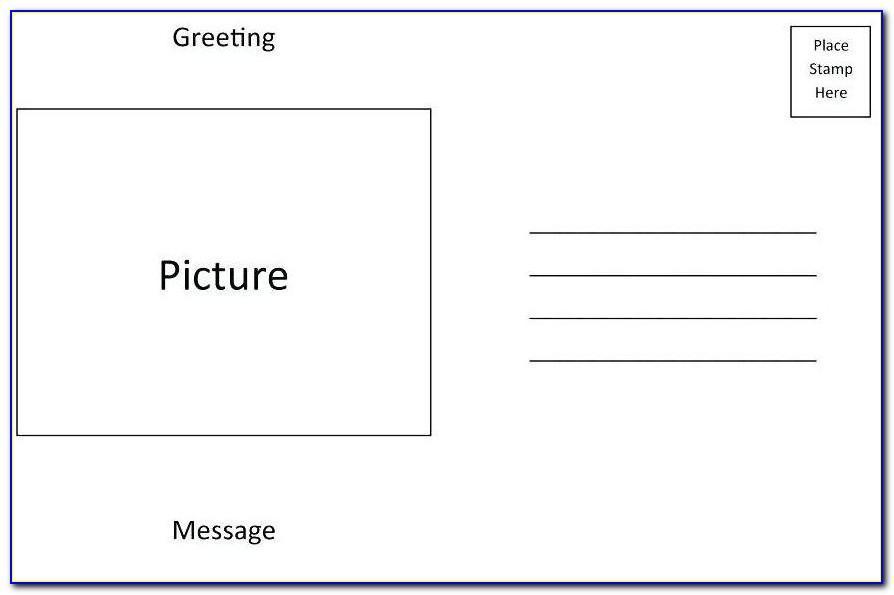 Usps Postcard Template 6x9