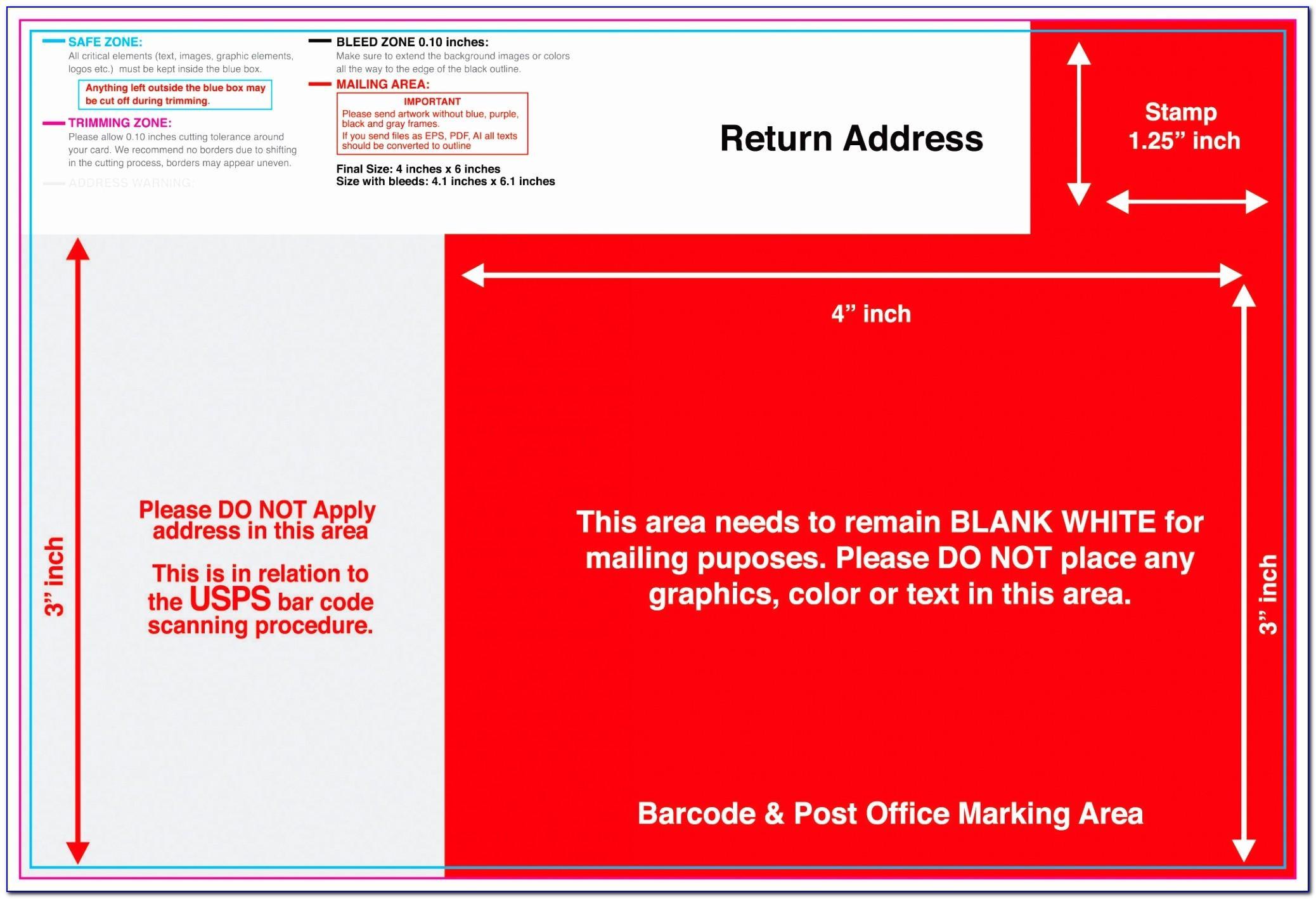 Usps Postcard Template 8.5 X 5.5