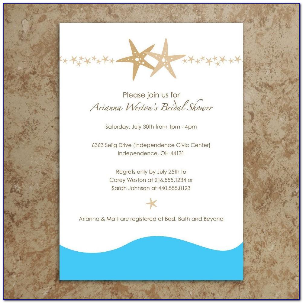 Wedding Invitation Templates Beach Theme