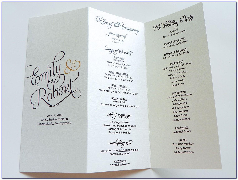 Wedding Program Trifold Templates