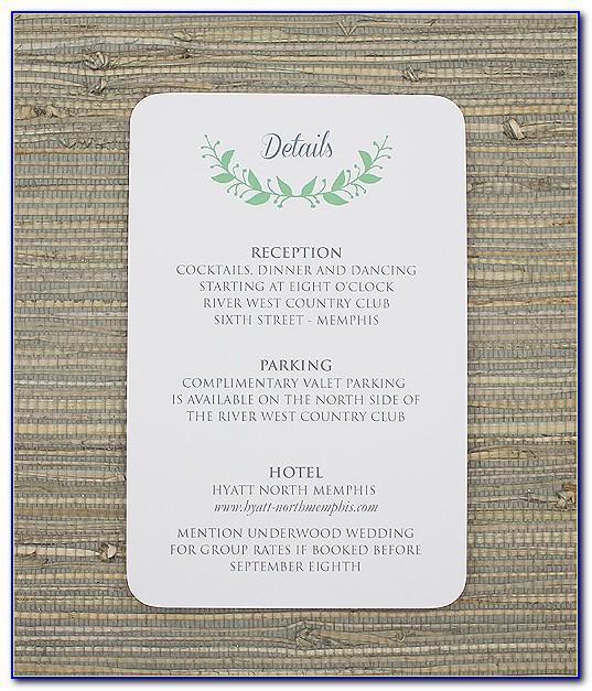 Wedding Reception Invitation Card Template