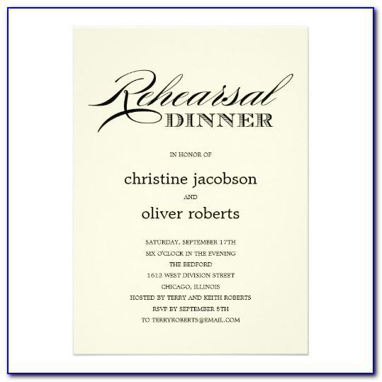 Wedding Rehearsal Dinner Invitation Template