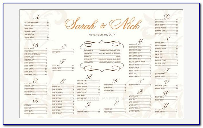 Wedding Seating Plan Template Free