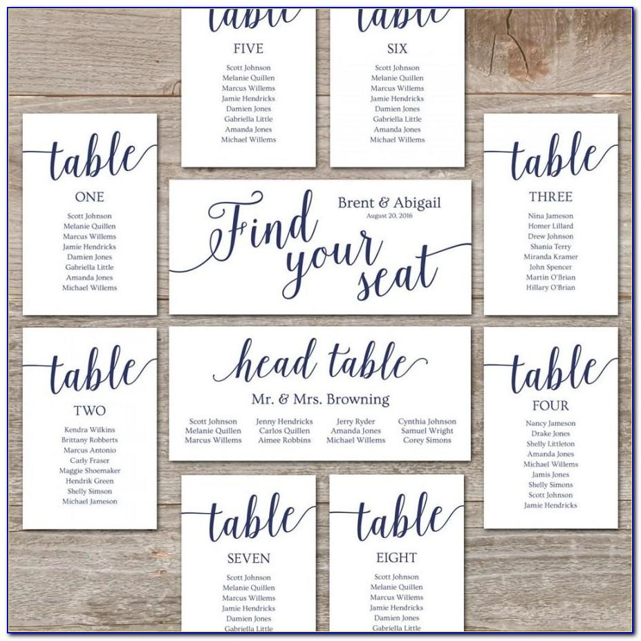Wedding Seating Plan Template Powerpoint