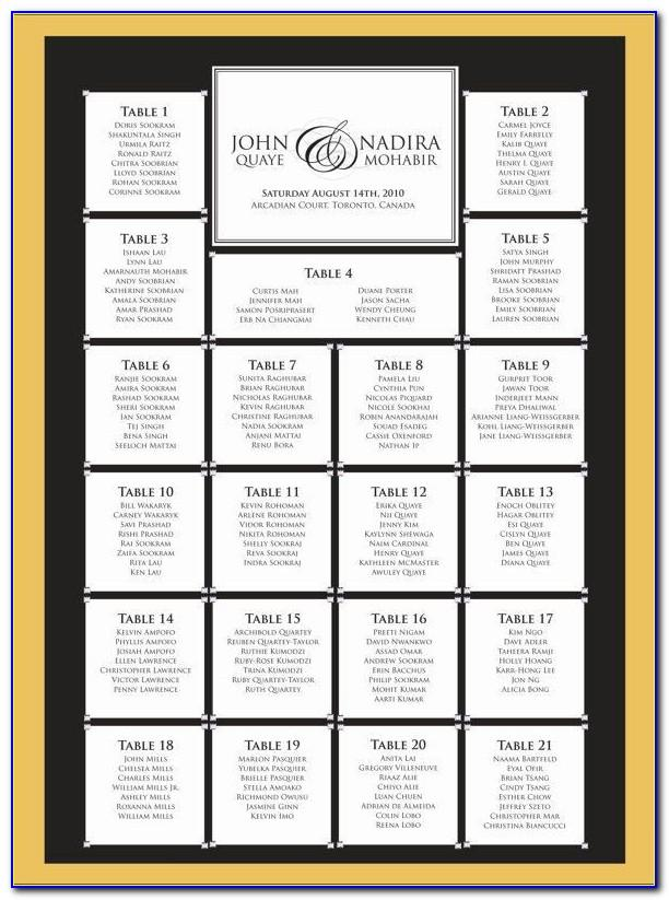 Wedding Seating Plan Template Printable Free