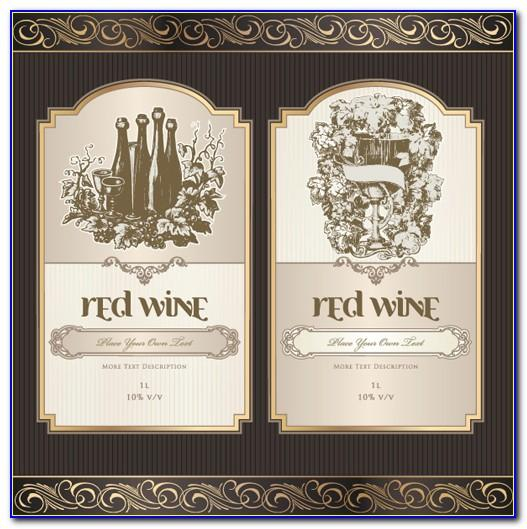 Wine Bottle Label Template Psd