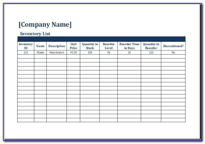 Wordpress Inventory Management Template