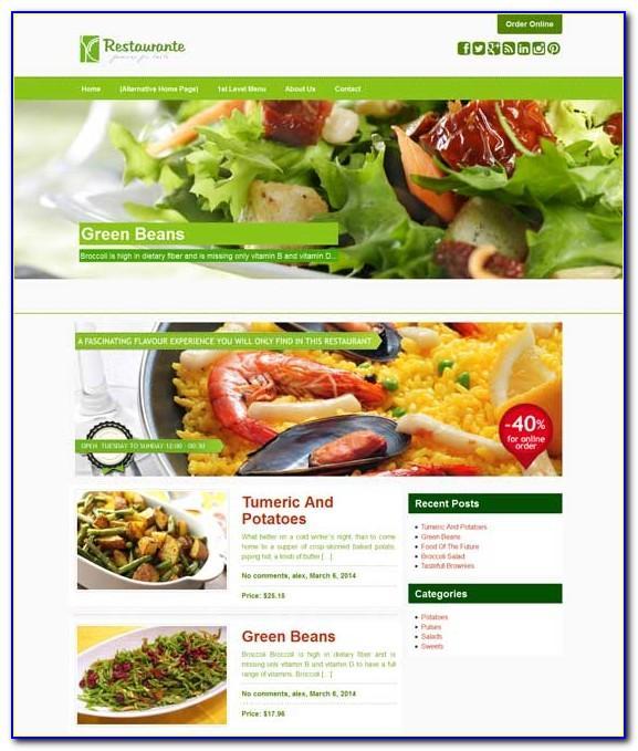 Wordpress Themes For Restaurants Free