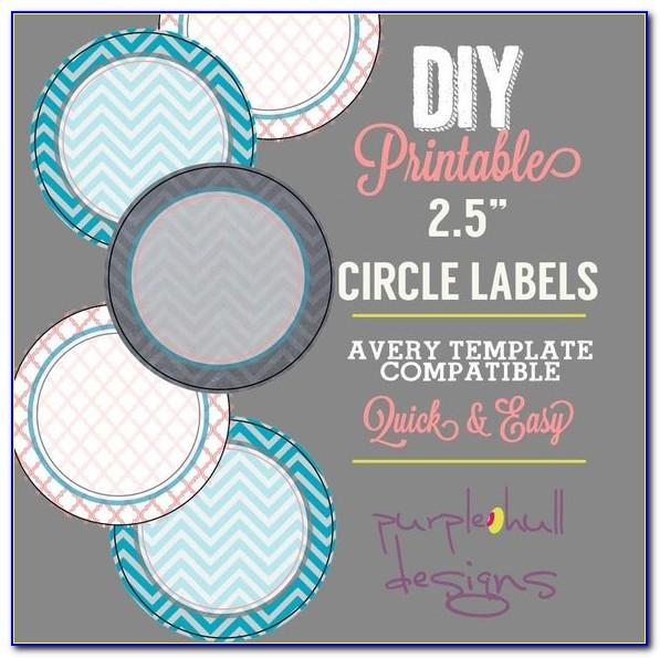 2.5 Circle Label Template
