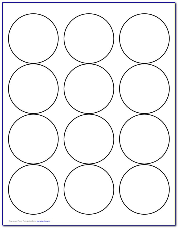 2.5 Round Circle Label Template