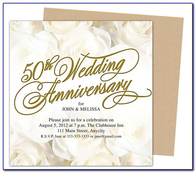 50th Wedding Anniversary Invitation Templates Free