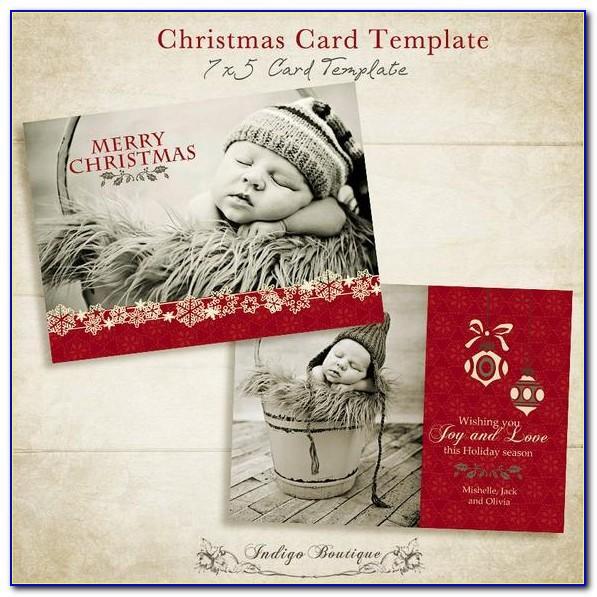 5x7 Christmas Card Templates