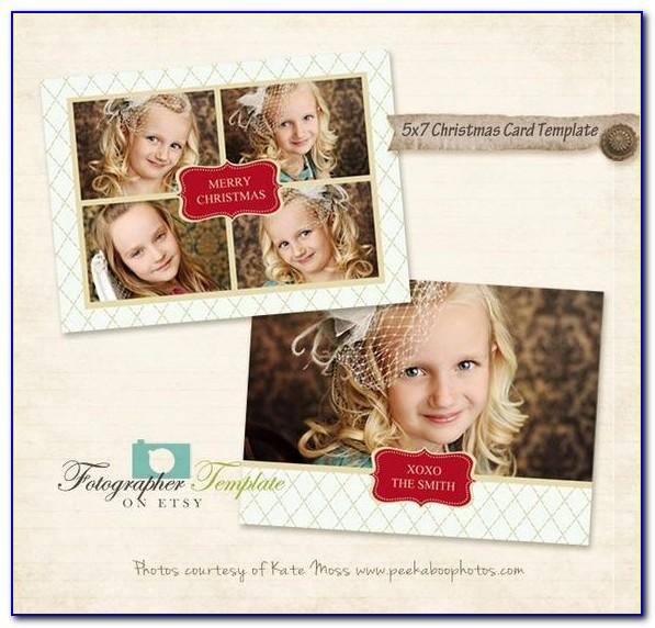 5x7 Holiday Card Templates For Photographers