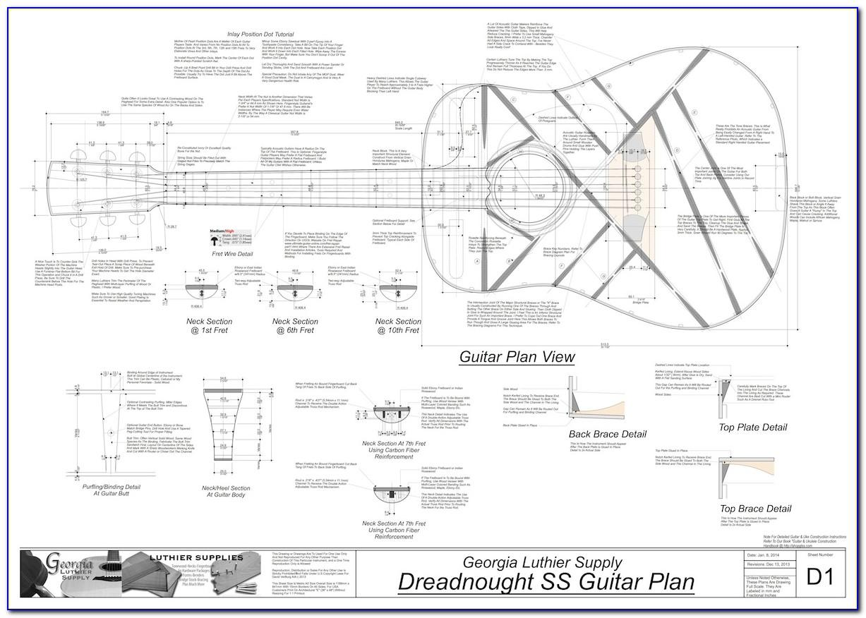Acoustic Guitar Body Templates