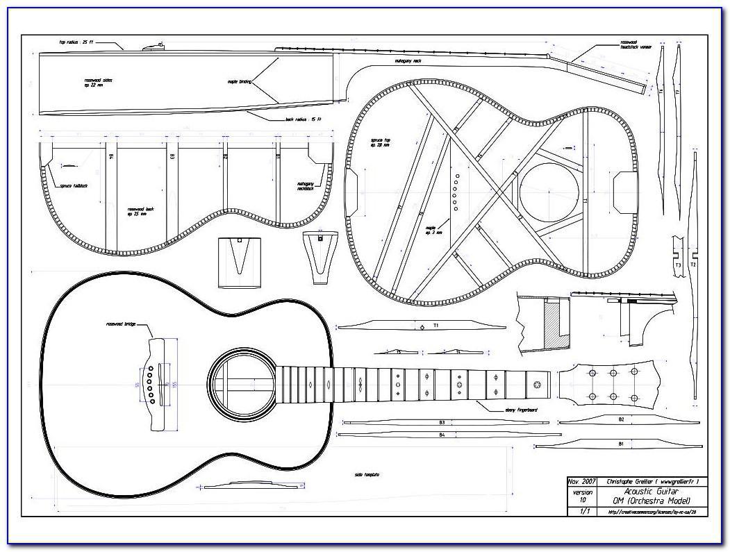 Acoustic Guitar Building Templates