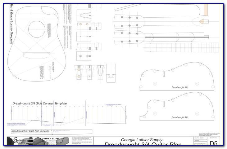 Acoustic Guitar Pickguard Templates
