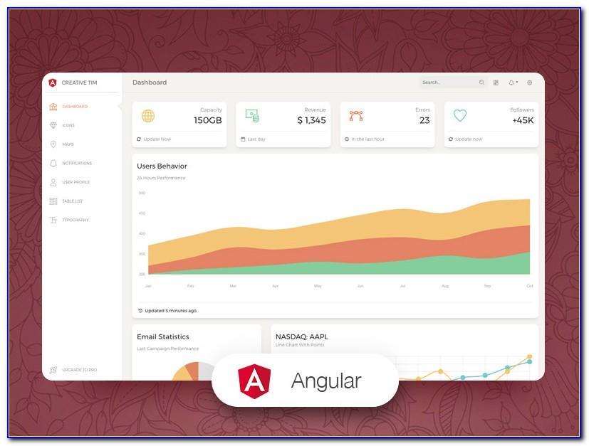Angular 4 Web Template Free