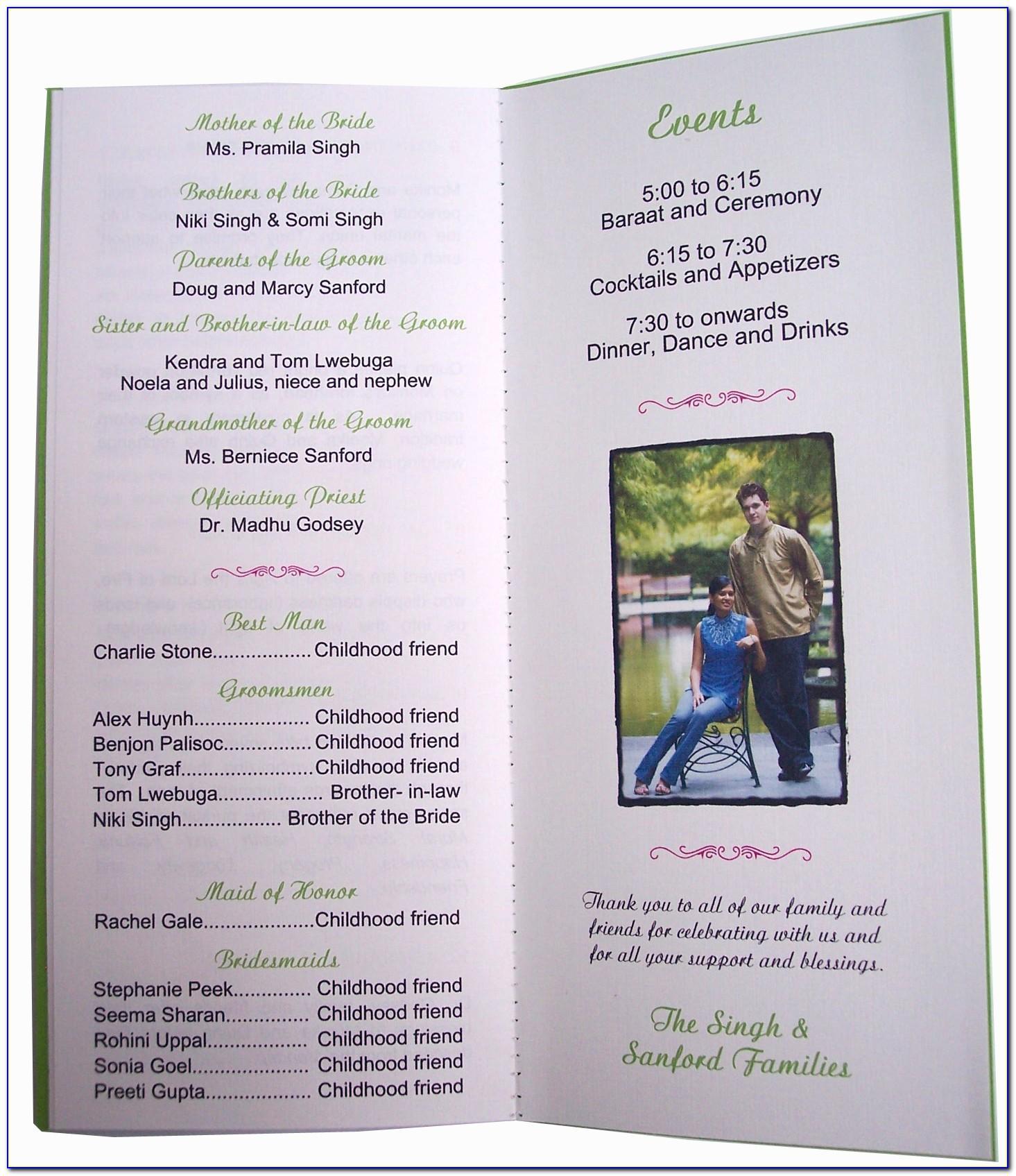 Anniversary Party Program Template