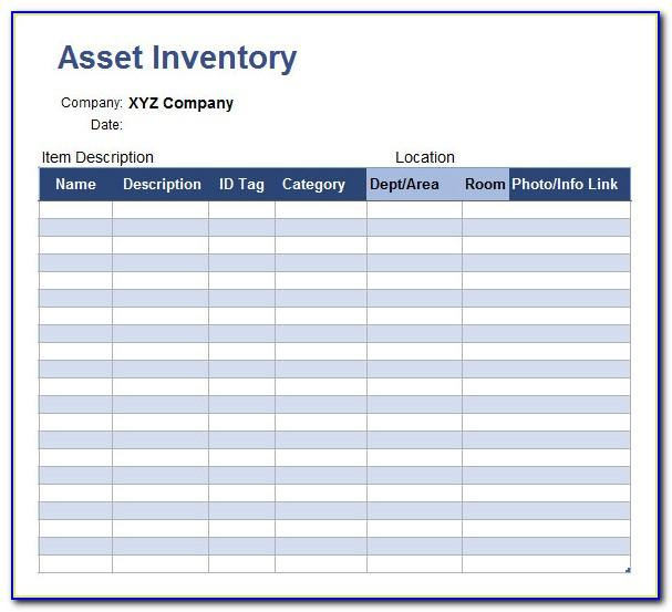 Asset Management Excel Template Download