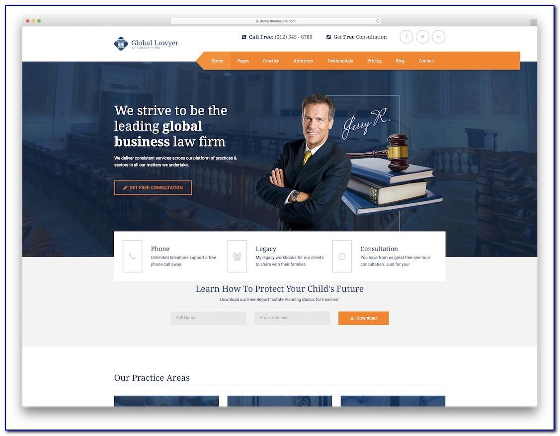 Attorney Website Templates Wordpress